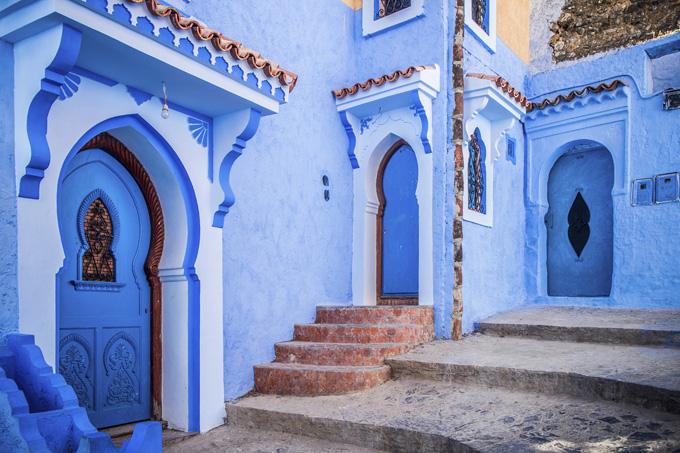 Город Шефшауен в Марокко