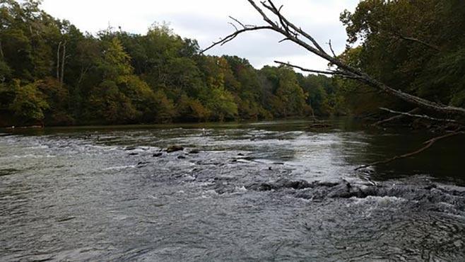 Перекат на реке