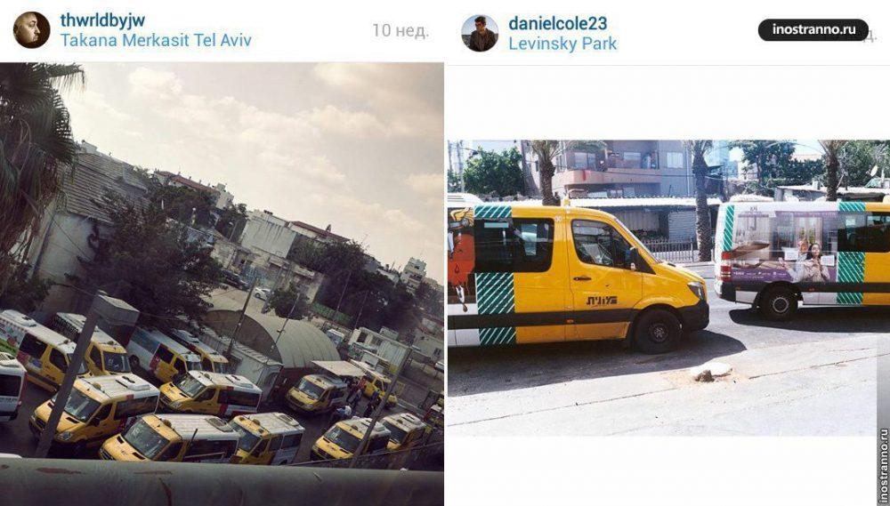 Микроавтобус Шерут в Израиле