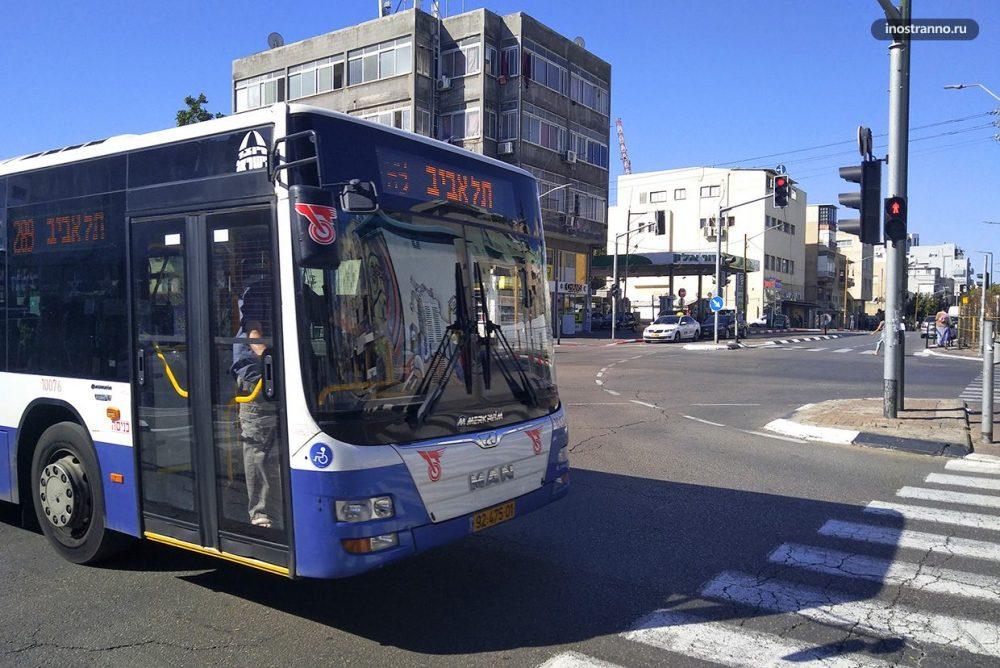 Автобус в Тель Авиве из аэропорта