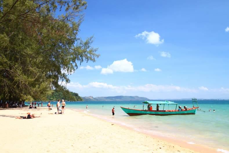 пляж, Камбоджи