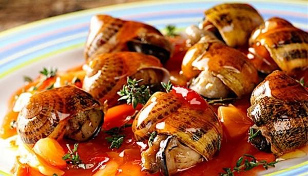 Необычная закуска Сардинии - улитки