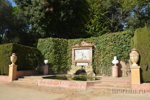Бюст Девкалиона, парк Лабиринт, Барселона
