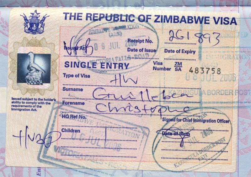 виза Зимбабве