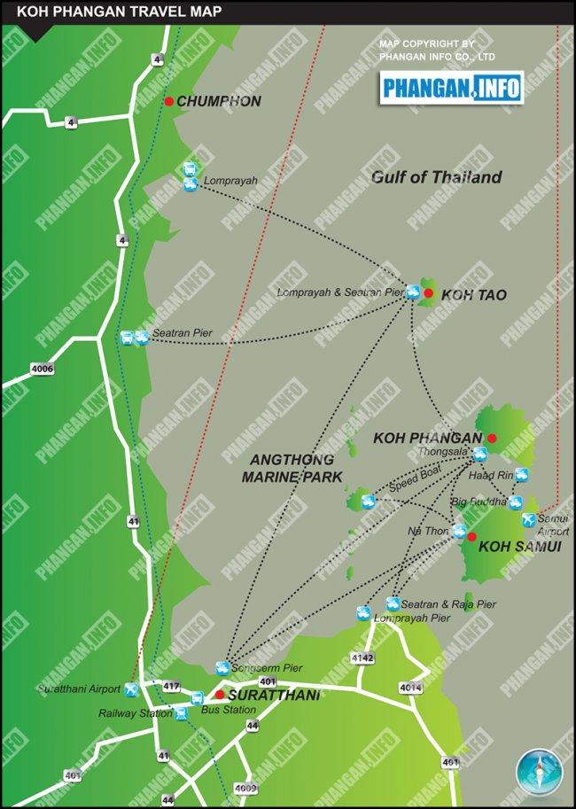 Основные способы как добраться на Ко Панган