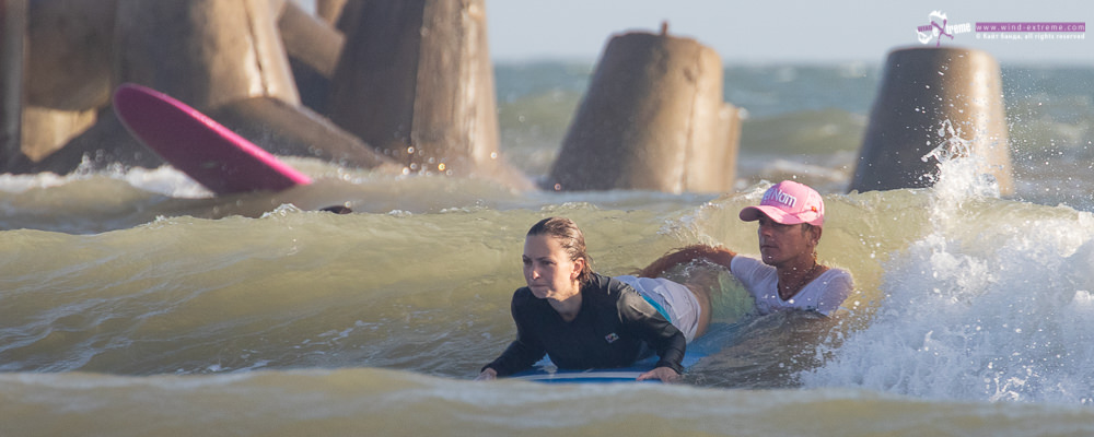 Обучение серфингу во Вьетнаме, Муйне, старт