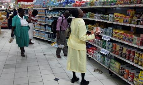 Магазин в Зимбабве